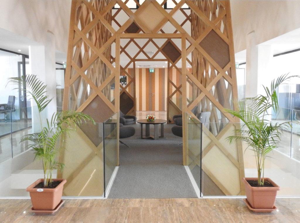 Rénovation de la banque BCDC - atrium