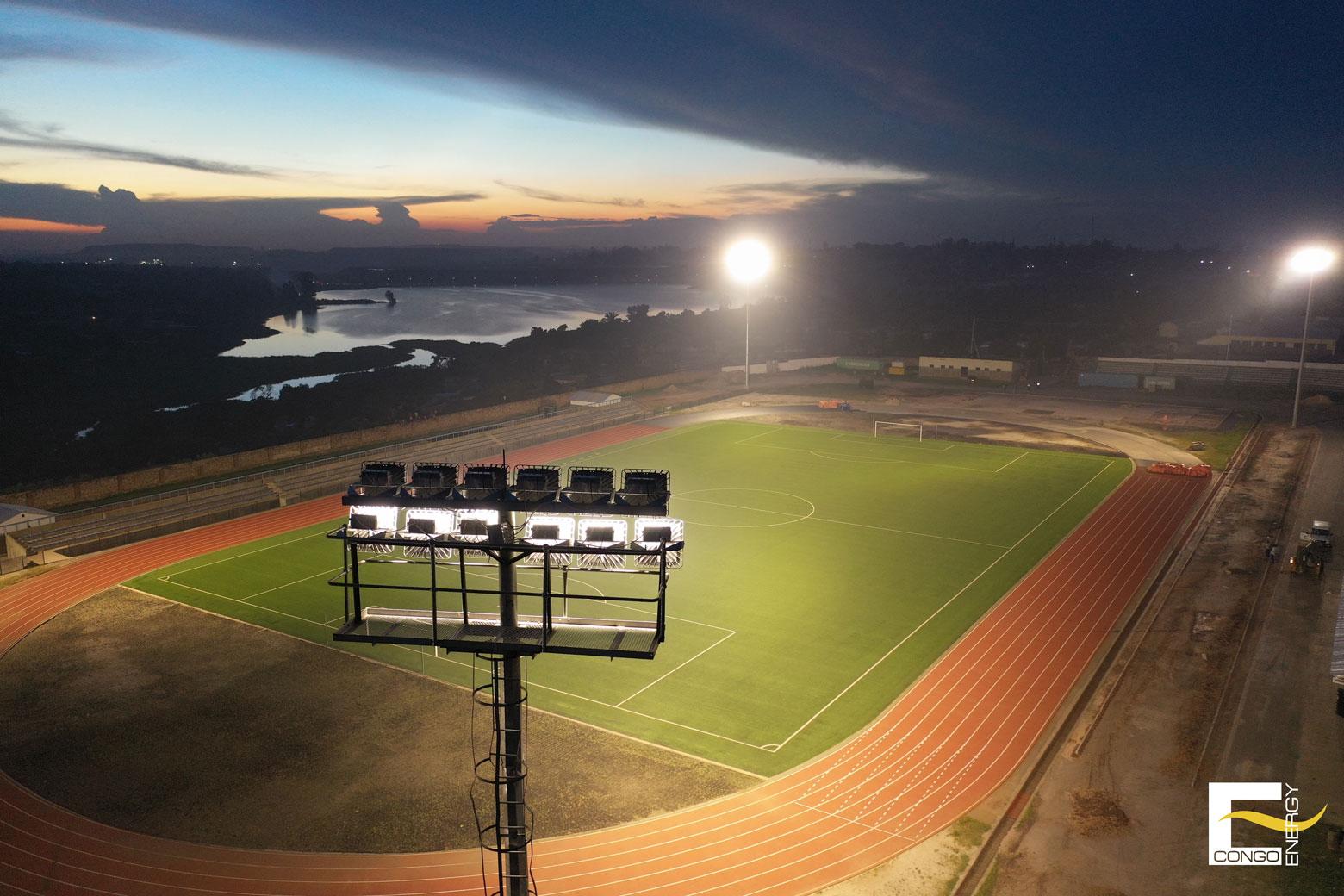 Eclairage de stade à Kolwezi, RDC