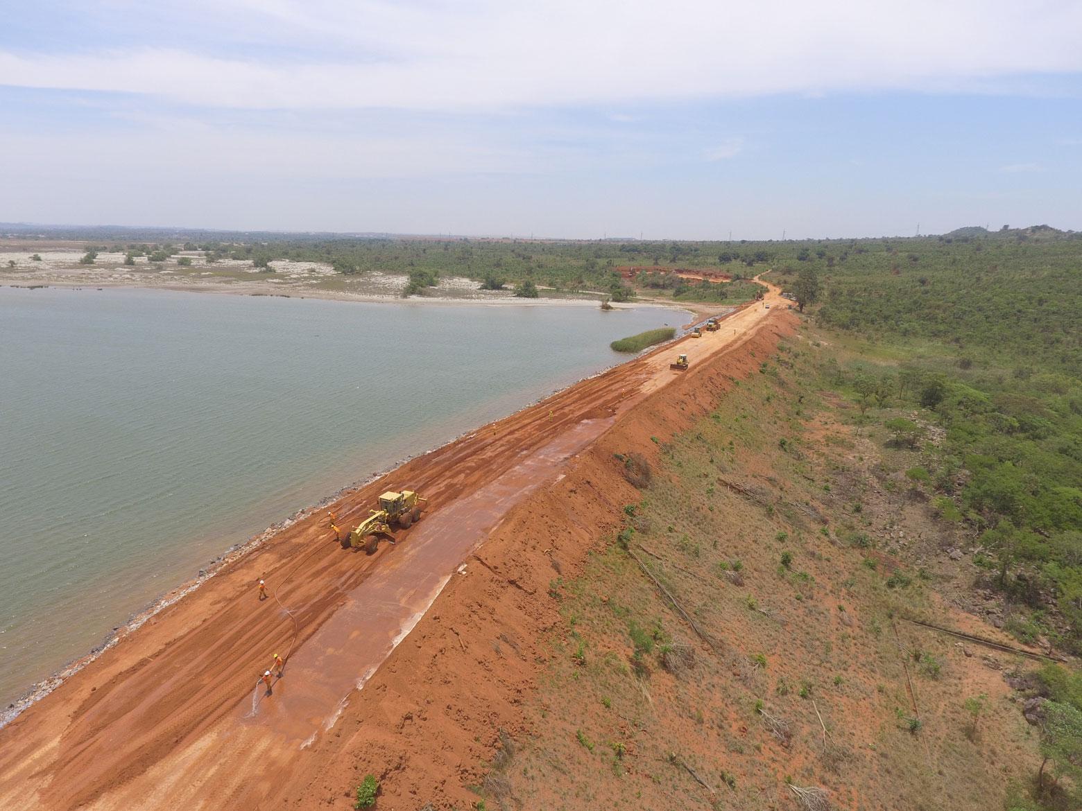 Renforcement d'une digue dans la Province du Lualaba, RDC