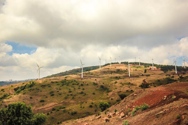 Eoliennes du parc Ngong Hills, Kenya