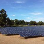Solar panels of the Manono solar plant