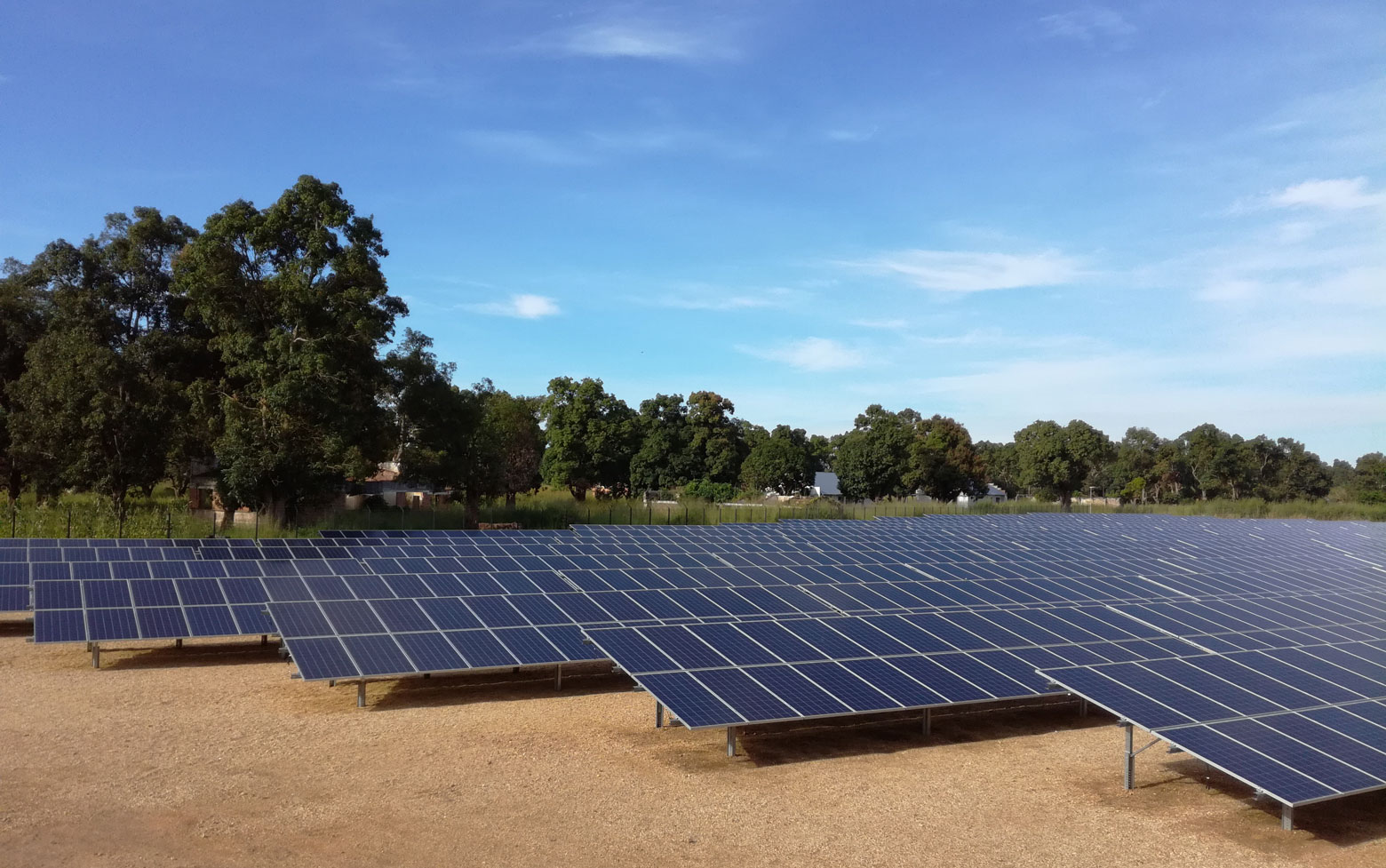 Panneaux solaires, Manono, République Démocratique du Congo