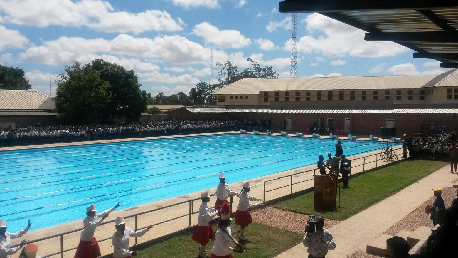 Piscine olympique du Lycée Kiwele à Lubumbashi