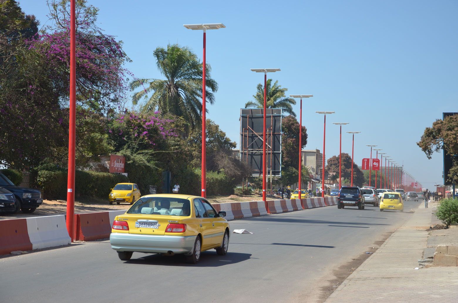 Kasa-Vubu avenue in Lubumbashi after renovation in 2019