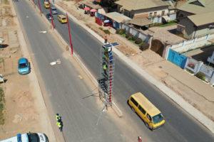 Installation des éclairages publics solaires sur l'avenue Kasa Vubu à Lubumbashi, RD Congo