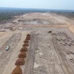 Travaux de génie civil sur le site du centre de négoce à Kolwezi, RD Congo