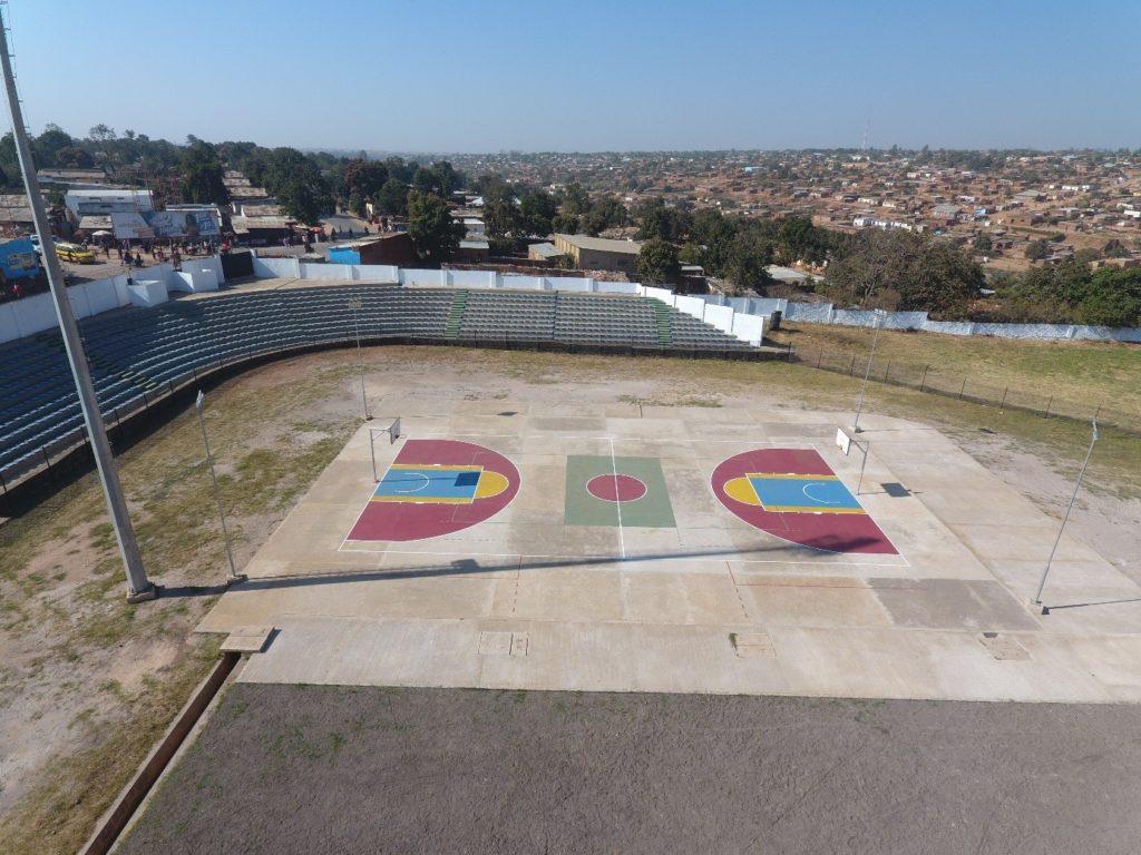 Terrain de basket du stade Diur à Kolwezi