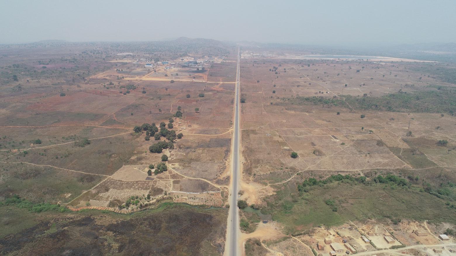 Route asphaltée entre Likasi et Kambove en RD Congo