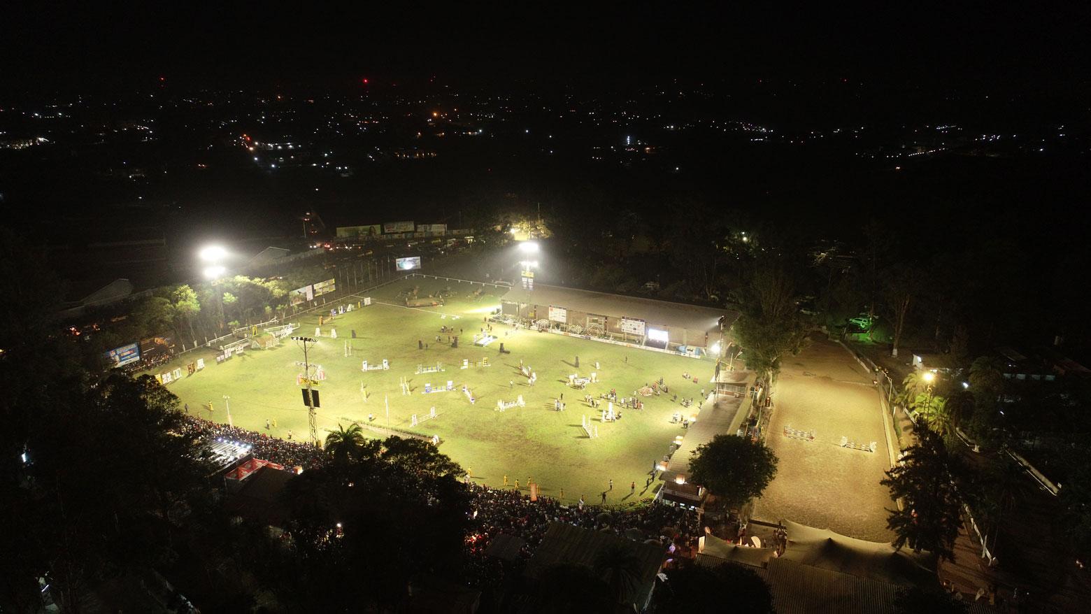 Eclairage de la piste du Cercle Hippique de Lubumbashi