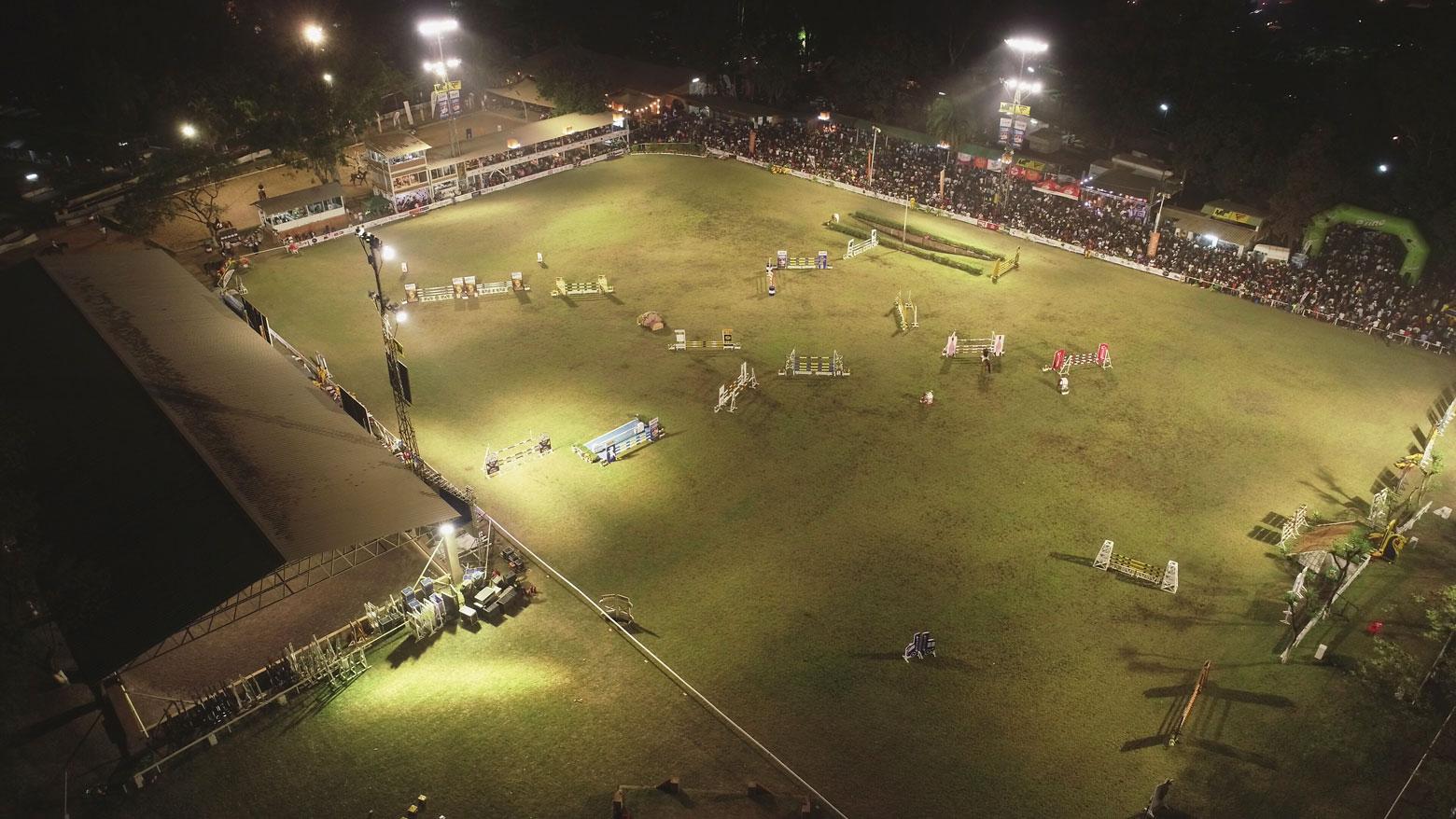 Vue aérienne de la piste du Cercle Hippique de Lubumbashi.
