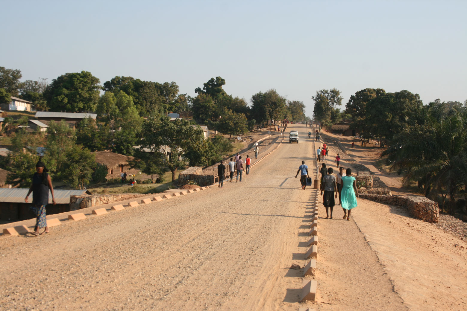View of the Kituku road in Kalemie, DR Congo