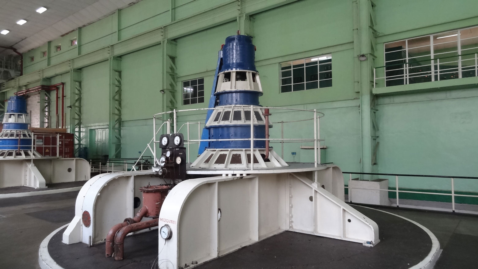 Turbine de la centrale hydroélectrique de Nzilo en RDC