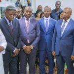 Autorités du Haut-Katanga : Guylain Lubaba Buluma, Maire de Lubumbashi, Dr. Joseph Nsambi Bulanda, ministre provincial de la Santé et Jean-Claude Kamfwa, Vice-Gouverneur.