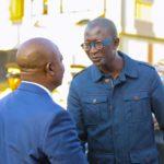 Patrick William, CEO du CMC et le Vice-Gouverneur du Haut-Katanga, Jean-Claude Kamfwa