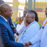 Jean-Claude Kamfwa salue les médecins du CMC à Lubumbashi