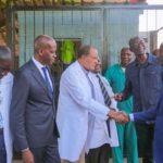 Arrivée du ministre provincial de la Santé du Haut-Katanga, le Dr. Joseph Nsambi Bulanda