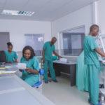 Personnel soignant du CMC à Lubumbashi.