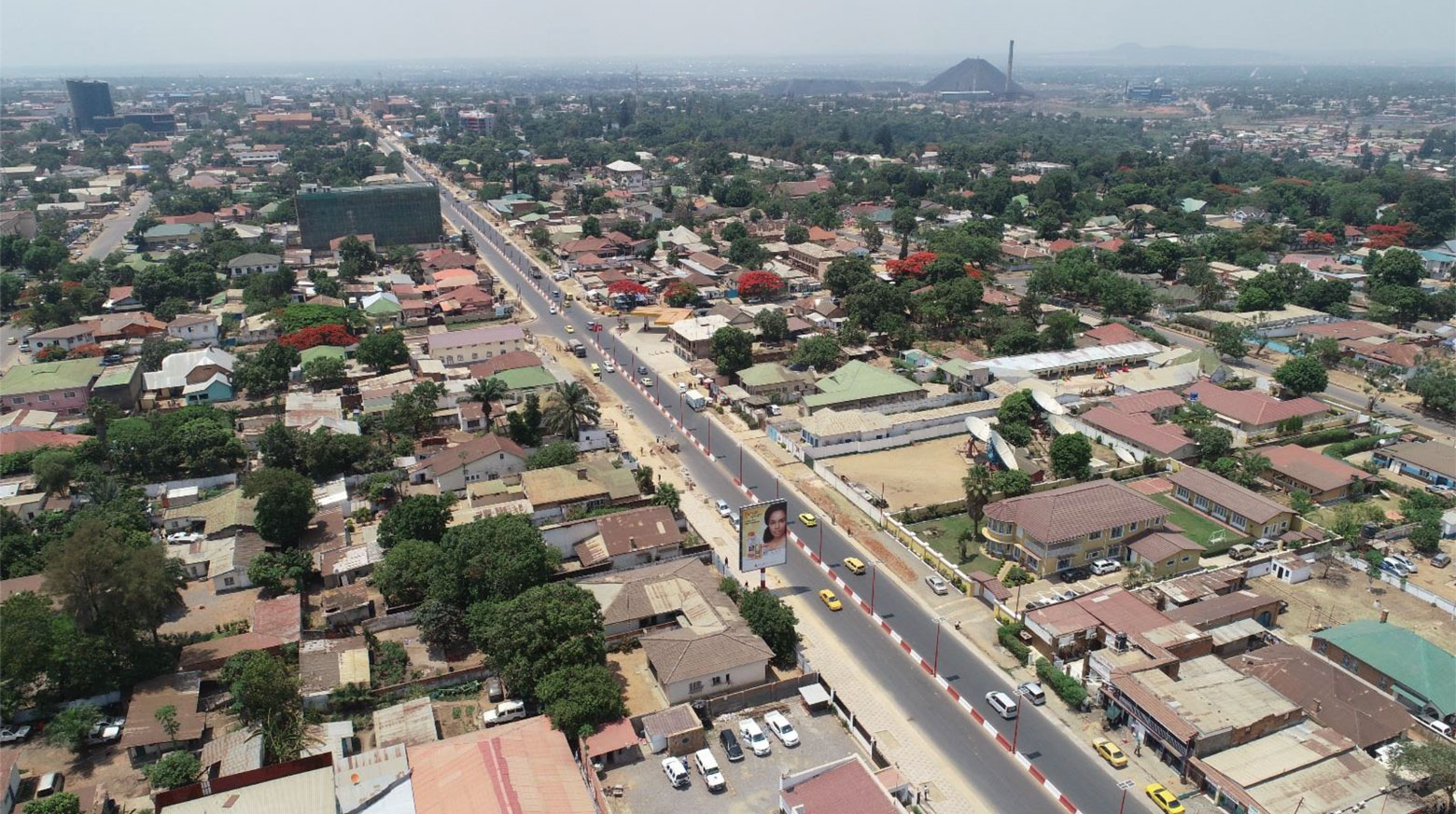 In Lubumbashi, avenue Kasavubu after renovation in 2019.