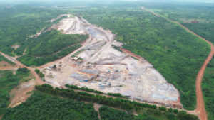 Aerial view of the Katonto quarry in DR Congo