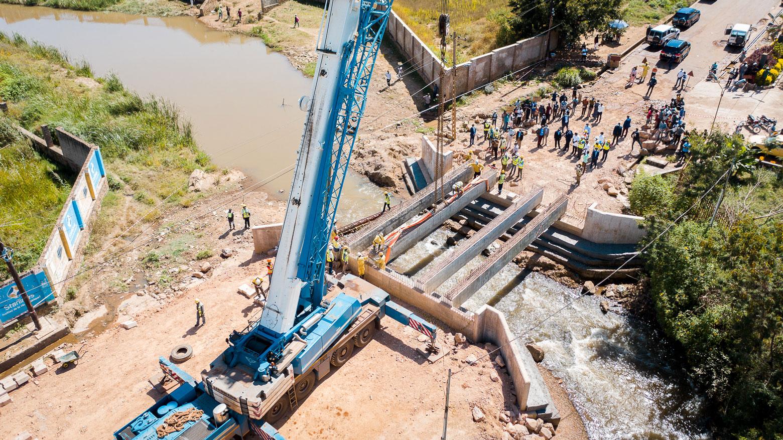 Construction du pont Kabulameshi à Lubumbashi en RD Congo