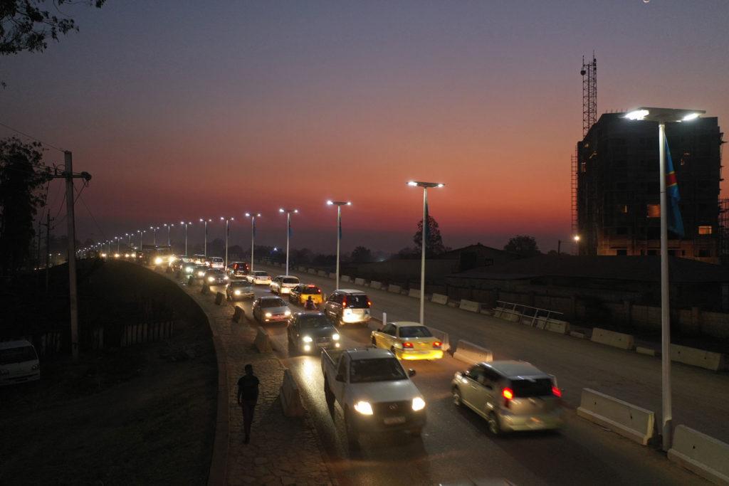 Solar lights in Kolwezi, DRC