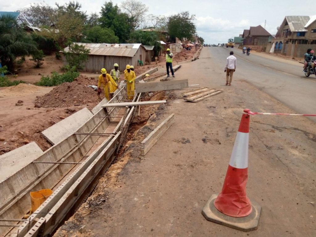 Travaux d'assainissement du bld Jospeh Kabila Kabange à Kalemie