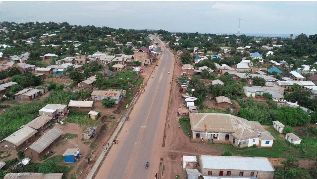 In Kalemie, construction of Boulevard Joseph Kabila Kabange