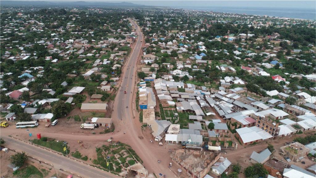 Construction of the Boulevard Joseph Kabila Kabange in Kalemie, Tanganyika, DR Congo
